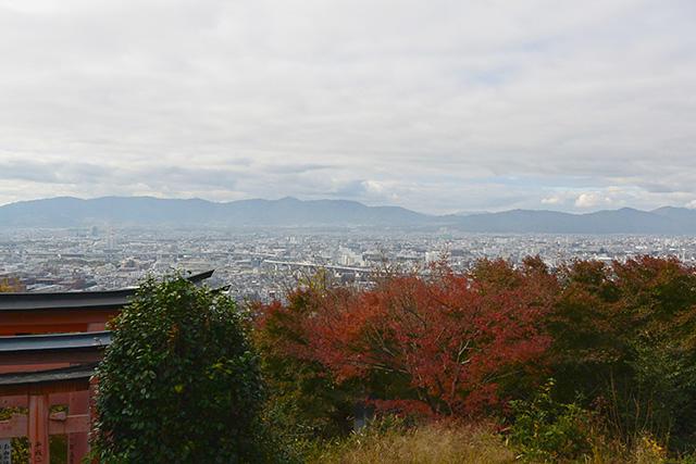 四ツ辻から京都の街を一望する