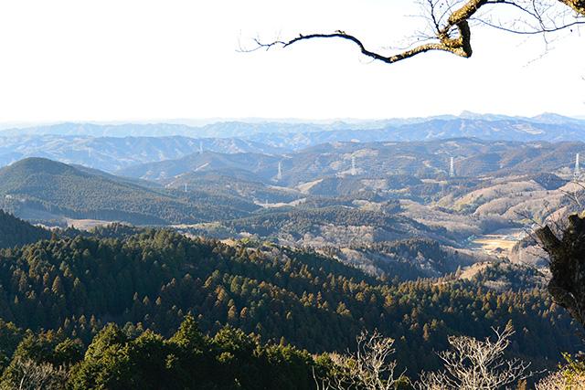 御岩山の頂上からの眺め