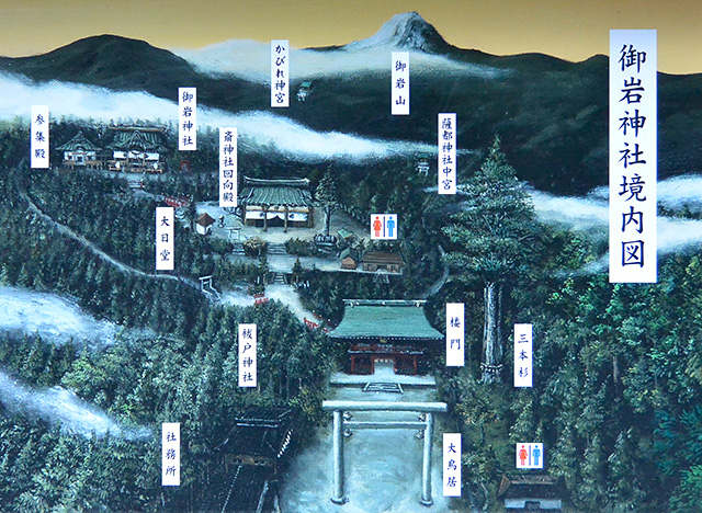 御岩神社境内図
