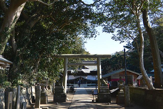 酒列磯前神社狛犬と門
