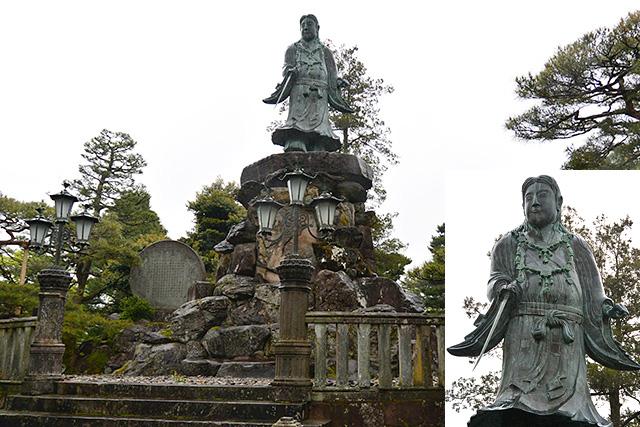 兼六園の日本武尊像