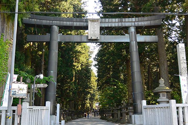 北口本宮冨士浅間神社の鳥居