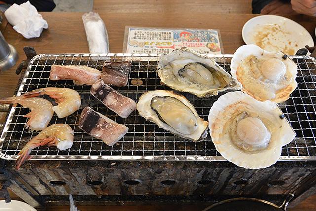 食べ放題の海鮮浜焼き