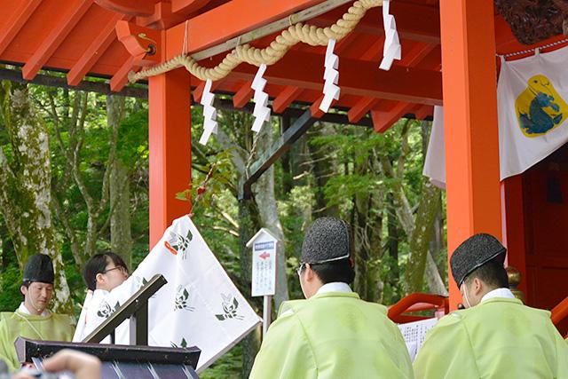 九頭龍神社(本宮)月次祭(例大祭)巫女の舞