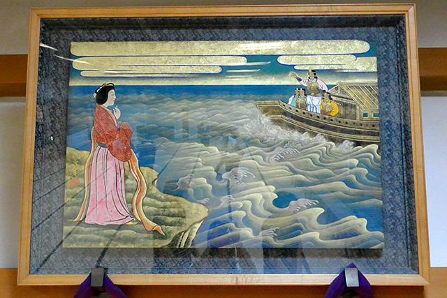 オトタチバナヒメノ、海神の怒りを鎮める