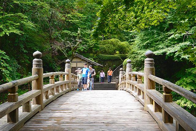 古峯園(こほうえん)への橋
