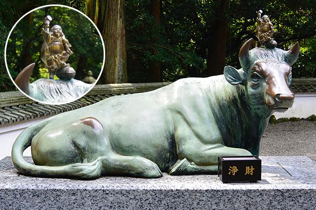 金剛證寺の牛の像