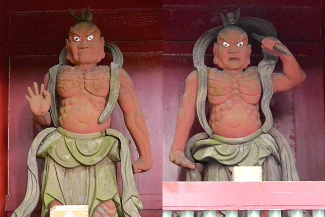 楼門(大仁王門)の阿形と吽形像