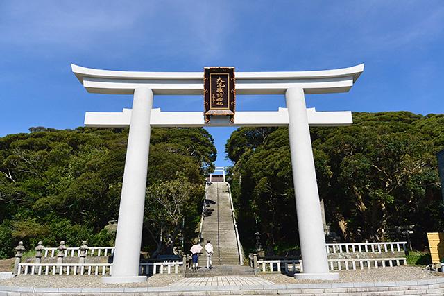 大洗磯前神社・正面鳥居(二の鳥居)