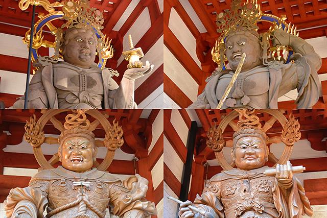 中門の四天王像