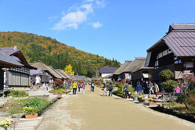 大内宿の街道