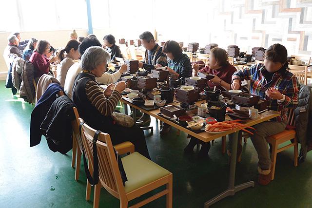 山梨FUJIフルーツパークの昼食