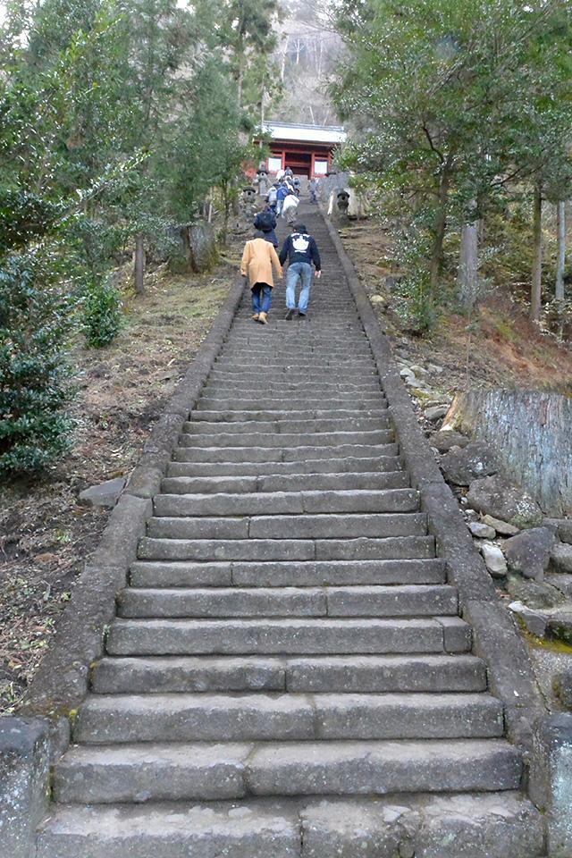 妙義神社・165段の階段