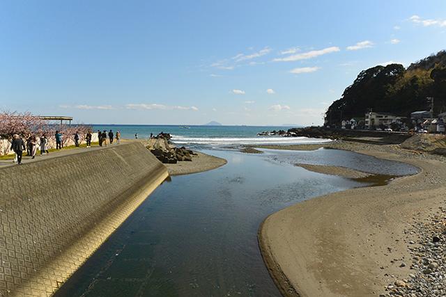 浜橋から見る河津海岸