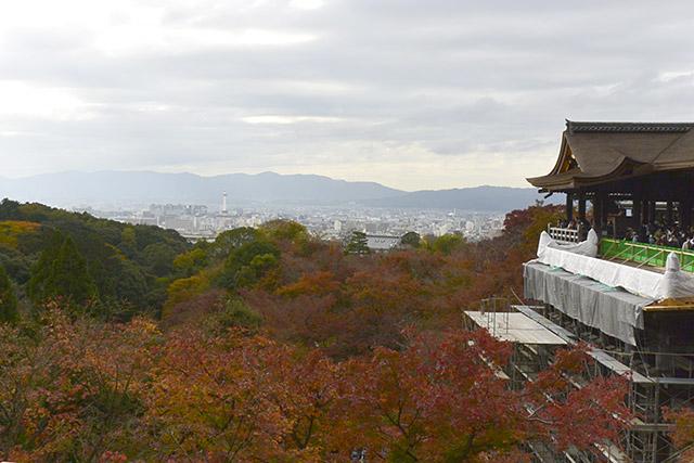 阿弥陀堂から京都市内の眺望
