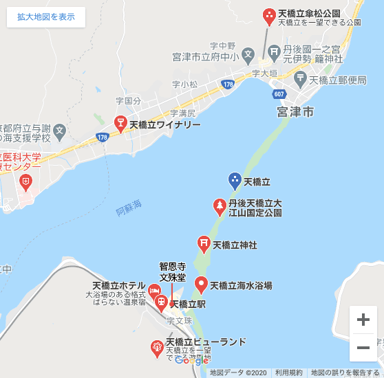 天橋立MAP