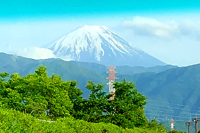 車窓・富士山