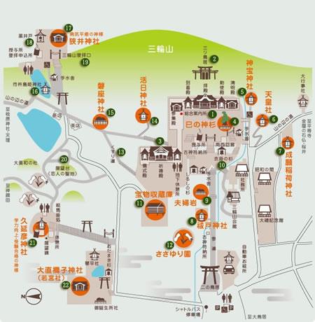 大神神社の周辺マップ