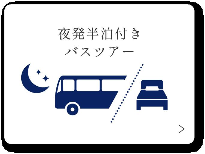 夜発半泊付バスツアー