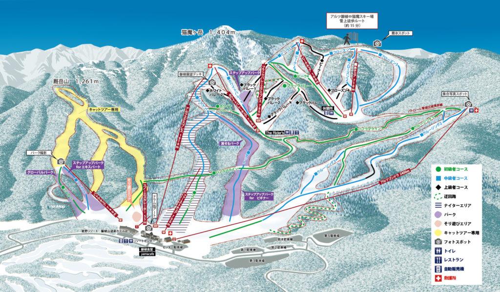 星野リゾート アルツ磐梯スキー場のゲレンデマップ